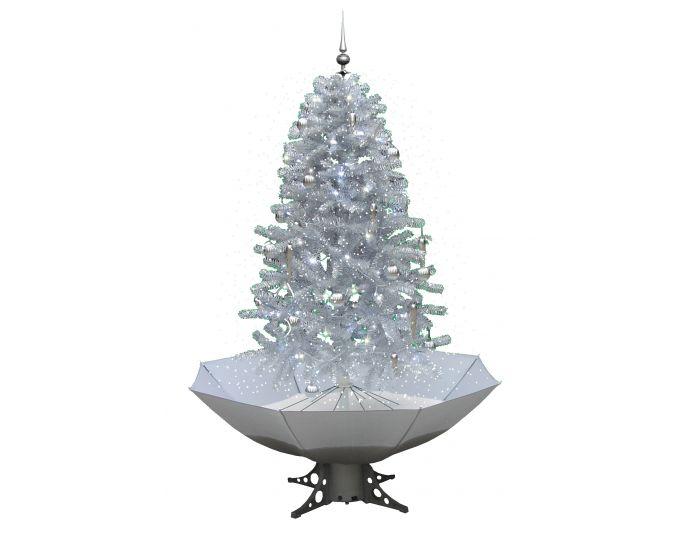 Schneiender Weihnachtsbaum Weiß/Silber 180cm