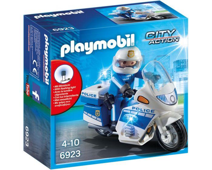 Playmobil Motorrad Polizei mit LED-Licht - 6923