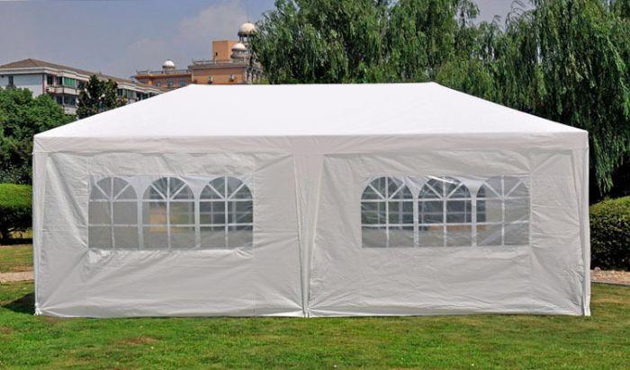 Partyzelt 3x6 M Weiß Mit Seitenwänden Pure Garden Living