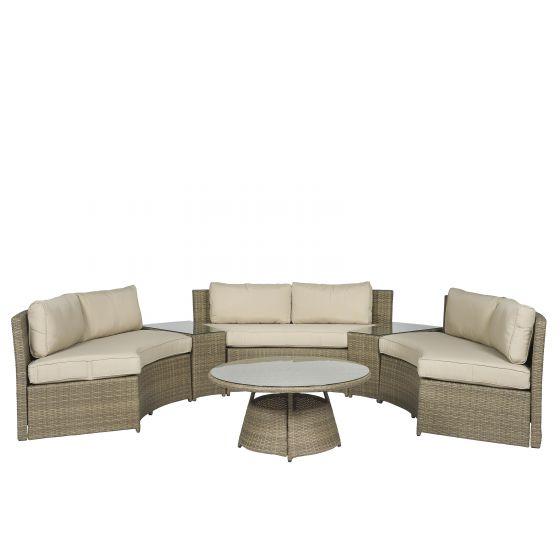 Garten Loungemöbel Sitzgruppe Polyrattan\
