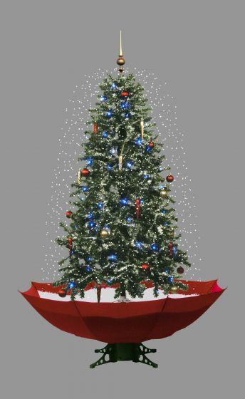 Schneiender Weihnachtsbaum.Schneiender Weihnachtsbaum Rot 170cm