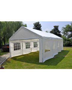 Partyzelt 4x8 m Deluxe weiß mit Seitenwänden Pure Garden & Living