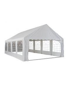 Partyzelt 5x8 Meter weiß mit Seitenwänden Pure Garden & Living