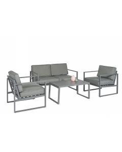 """Loungeset Sitzecke Aluminium """"Dubai"""" - Grau - Pure Garden & Living"""