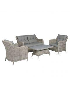 Sunset Sofagruppe Polyrattan naturel - Pure Garden & Living