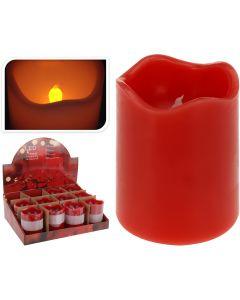 Kerze LED Timer 7x9 cm rot