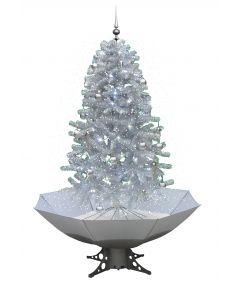 Schneiender Weihnachtsbaum Weiß/Silber 170cm
