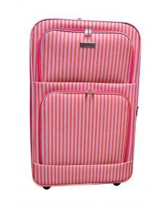 Koffer groß mit Streifendesign 80 Liter