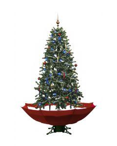Schneiender Weihnachtsbaum Rot 170cm