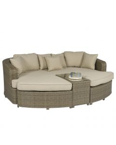 Palma Lounge Sonneninsel Polyrattan - Naturel - Pure Garden & Living