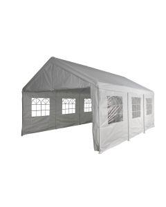 Partyzelt 4x6 m weiß mit Seitenwänden Pure Garden & Living