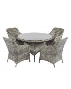 Cappucino Dining Loungemöbel Polyrattan naturel - Pure Garden & Living