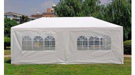 Partyzelt 3x6m PE 120 gr/m2 weiß