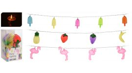 Partybeleuchtung Flamingo/Eis/Früchte