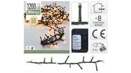 Microcluster 1200 LED-Lämpchen warmweiß - 24 m